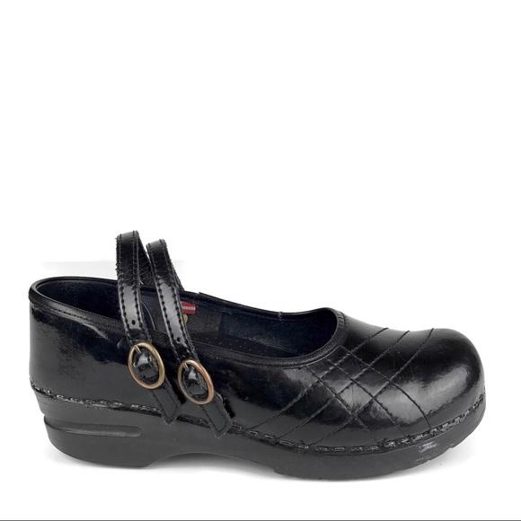 "Sanita Mary Jane""womens Black Leather Upper Size 39 Men's Clothing"